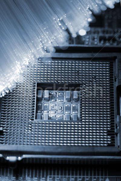 Fibre optique lumière résumé design Photo stock © arcoss