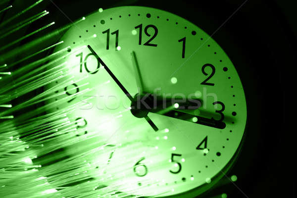 волокно оптика свет Места бизнеса часы Сток-фото © arcoss