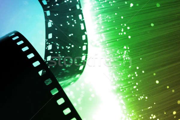 Fibre optique lumière film cinéma Photo stock © arcoss