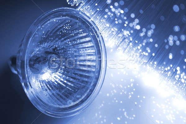 ストックフォト: 繊維 · オプティカル · 光 · 斑 · 背景 · ランプ