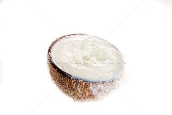 кокосового кокосовое молоко всплеск дерево фон пить Сток-фото © arcoss