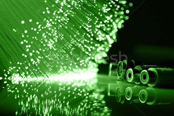 Stok fotoğraf: Lif · optik · ışık · noktalar · teknoloji · izlemek
