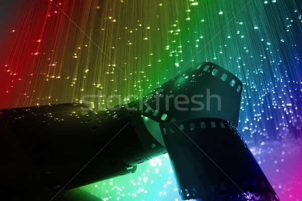 Rost optikai rost optika fény foltok Stock fotó © arcoss