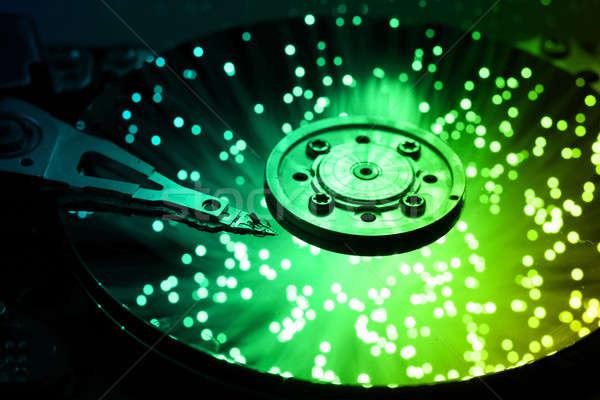 Business computer abstract metaal veiligheid Stockfoto © arcoss
