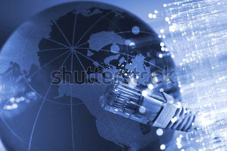 Sieci kabel globalny świecie świetle technologii Zdjęcia stock © arcoss