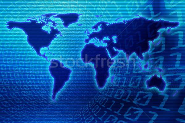 двоичный Мир бизнеса интернет мира карта Сток-фото © arcoss