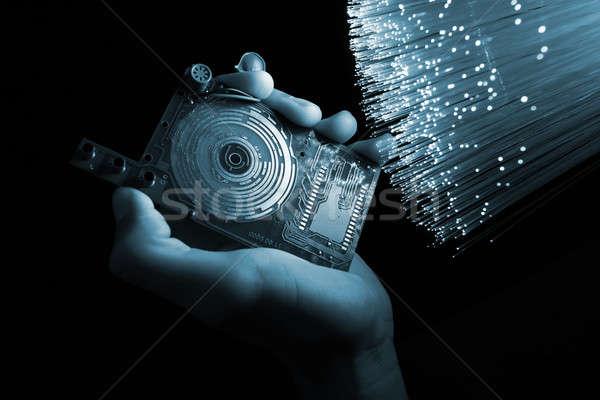 Technologie lichaam ontwerp kunst wetenschap robot Stockfoto © arcoss