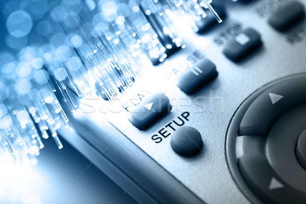 Rost optika fény foltok internet televízió Stock fotó © arcoss