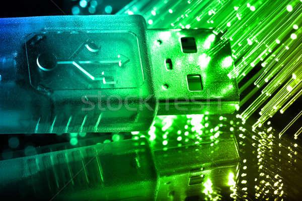 Stock fotó: Rost · optika · fény · foltok · technológia · háttér