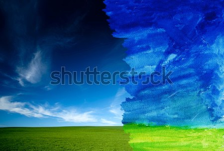 Real and watercolor concept Stock photo © arcoss