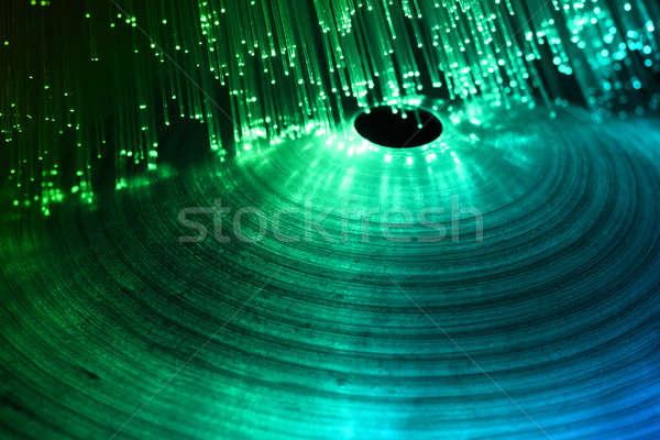 Cintányér mikrofon kő koncert színpad zenekar Stock fotó © arcoss