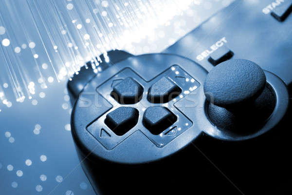 Game controller toned blue Stock photo © arcoss