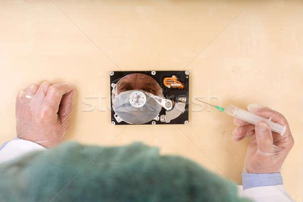 Doktor pc sağlık arka plan tıp iş Stok fotoğraf © arcoss