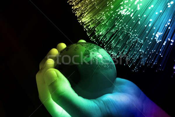 Tecnologia internet globo mapa segurança espaço Foto stock © arcoss