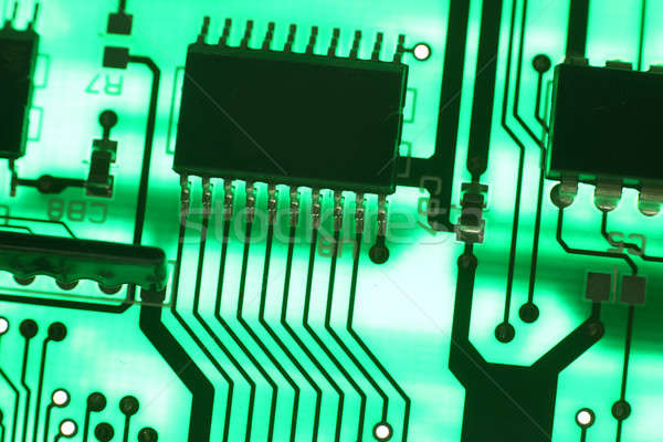 Electronics technology background in green Stock photo © arcoss
