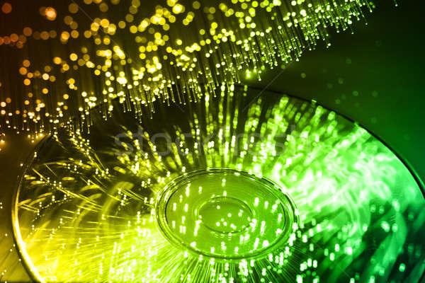 Rost optika fény foltok földgömb absztrakt Stock fotó © arcoss