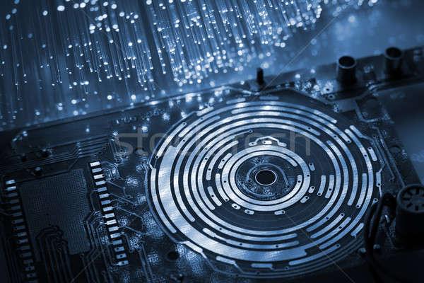 Obwodu komputera streszczenie świetle technologii podpisania Zdjęcia stock © arcoss