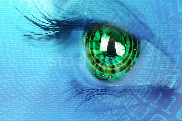 Göz iris devre ikili Internet kadın Stok fotoğraf © arcoss
