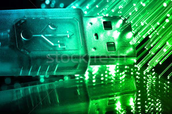 Włókno optyka świetle technologii tle Zdjęcia stock © arcoss