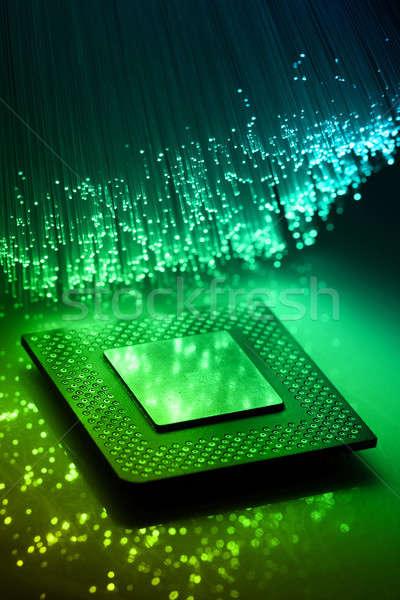 Işlemci soyut uzay ağ kablo dijital Stok fotoğraf © arcoss
