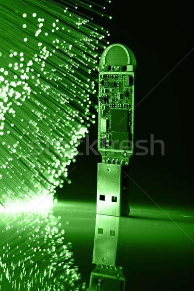 Vezel optica licht sleutel store Stockfoto © arcoss