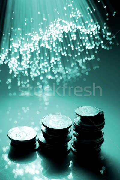 繊維 オプティカル 金融 市場 将来 会社 ストックフォト © arcoss