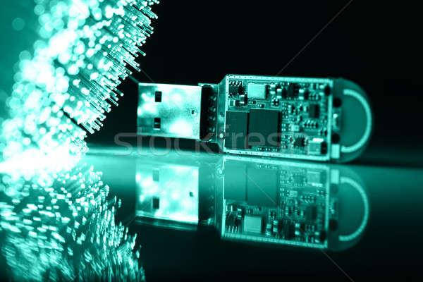 Fibra ótica luz chave armazenar Foto stock © arcoss
