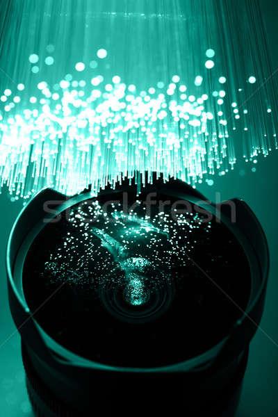 Lif optik ışık noktalar müzik el Stok fotoğraf © arcoss