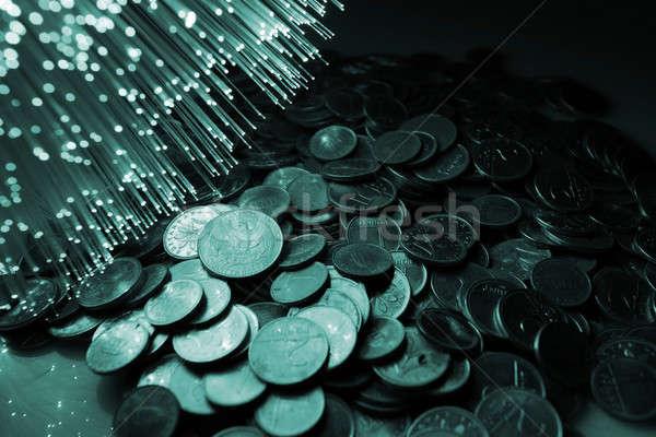 Faser optische Hintergrund Finanzierung Bank Gold Stock foto © arcoss