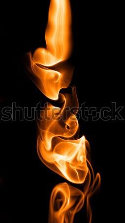 Feu fumée texture résumé lumière design Photo stock © arcoss