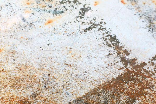 Roestige staal plaat metaal alle oude Stockfoto © arcoss