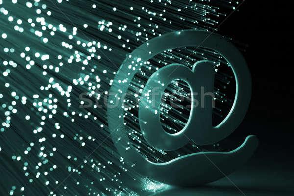 волокно оптический компьютер интернет аннотация дизайна Сток-фото © arcoss