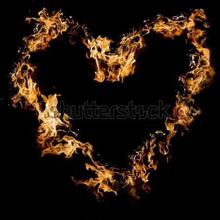 Blazing heart Stock photo © arcoss