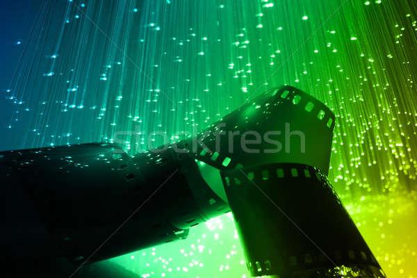 Stock fotó: Rost · optikai · rost · optika · fény · foltok