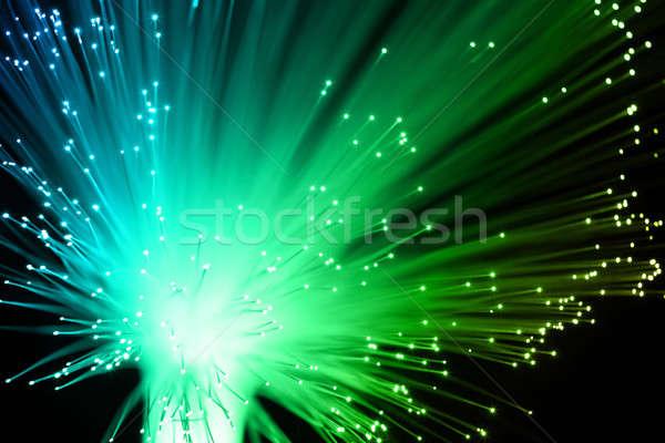 Vezel optische abstract ontwerp netwerk kabel Stockfoto © arcoss