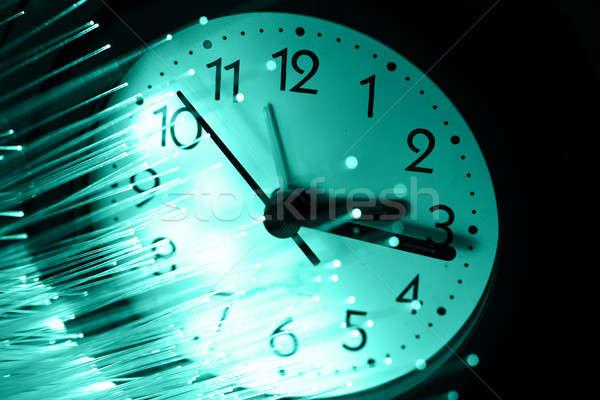 Fibra ótica luz negócio relógio Foto stock © arcoss