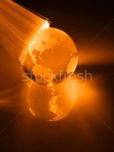 волокно оптика свет Места мира технологий Сток-фото © arcoss