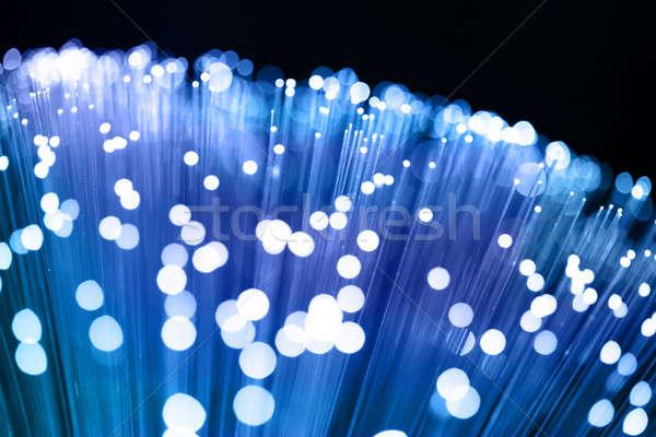 Włókno optyka świetle świecie technologii Zdjęcia stock © arcoss