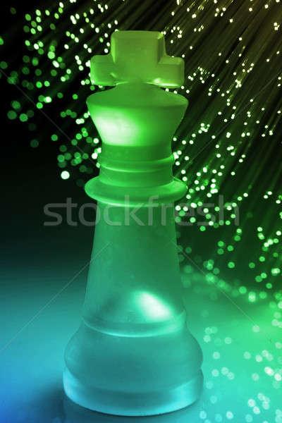 Stockfoto: Vezel · optische · licht · sport · oorlog