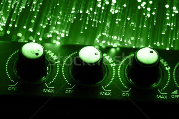 Lif optik ışık noktalar teknoloji radyo Stok fotoğraf © arcoss