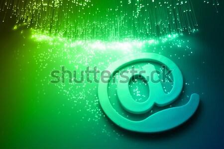 Vezel optische computer internet abstract ontwerp Stockfoto © arcoss