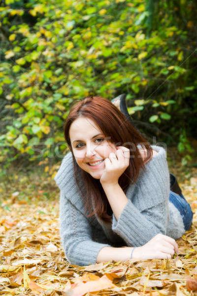 Kafkas kız sezon güz portre güzel genç Stok fotoğraf © aremafoto