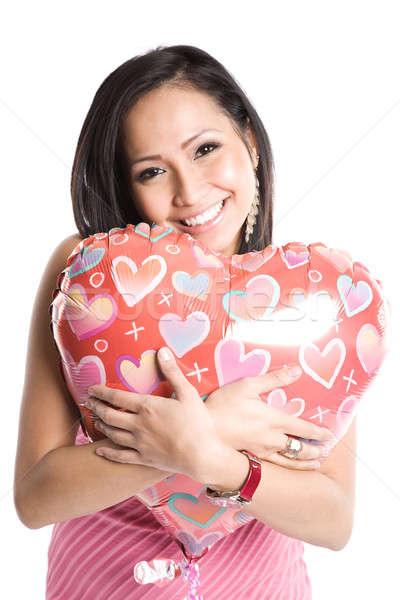 Asian vrouw ballon mooie liefde Stockfoto © aremafoto