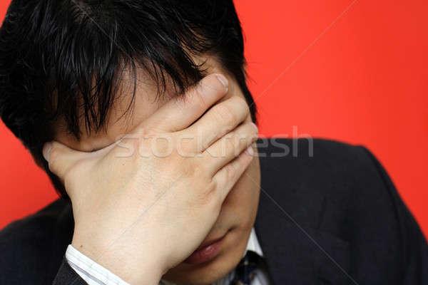 Stress businessman Stock photo © aremafoto