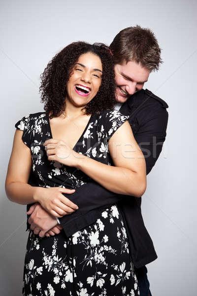 Romantyczny para portret piękna miłości kobieta Zdjęcia stock © aremafoto