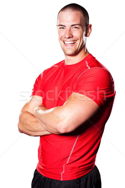 Muscular athlete Stock photo © aremafoto