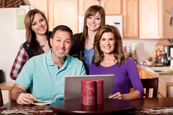 Family at home Stock photo © aremafoto