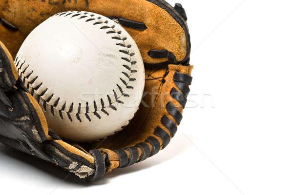 Baseball ball and glove Stock photo © aremafoto