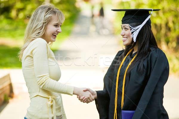 卒業 少女 幸せ 美しい 美 友達 ストックフォト © aremafoto