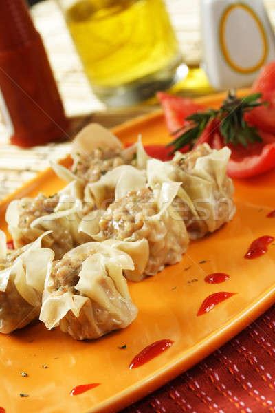 Kínai étel kép kínai edény étel reggeli Stock fotó © aremafoto